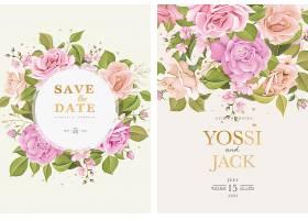 印有漂亮鲜花的婚礼邀请卡_126484570101