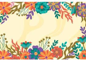 手绘五彩缤纷的春色背景_120671390101