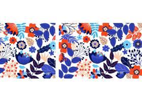 手绘五颜六色的花卉背景_46490550101