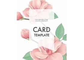 贺卡模板粉红色花朵白色背景透明边框_27483280101
