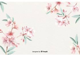 色彩柔和的水彩花卉壁纸_58917990102