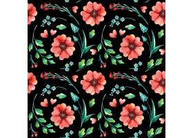 花卉无缝图案植物水彩画春叶春花手绘_125021210101