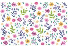 花卉无缝图案雏菊白色背景_59034530101