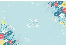 花卉问候春天的概念_70693680101