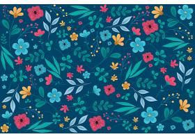 乏味的花卉印花背景_63972470102