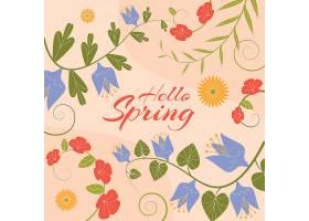 你好春天的刻字概念_69295350102