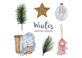 冬季水彩画收藏及家居用品_126772230101
