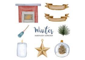 冬季水彩画收藏及家居用品_126772250101