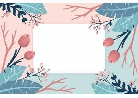 冬花为背景徽章为空_62790190101