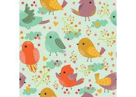 可爱的五颜六色的小鸟图案_15859000101