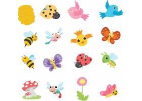 可爱的卡通春天动物收藏集_8487820102