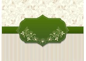 婚礼邀请函和带有花卉背景艺术品的通告卡片_15344780101