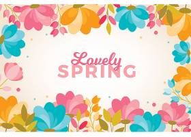平坦可爱的春色背景_121510940101