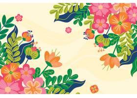 平坦的五彩缤纷的春色背景_120671440101