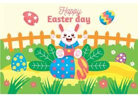 平坦的复活节庆祝插图_126736130101
