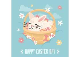 平坦的复活节庆祝插图_126736320102