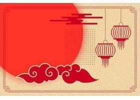 平淡的中国主题带着灯笼和云彩_65567730101
