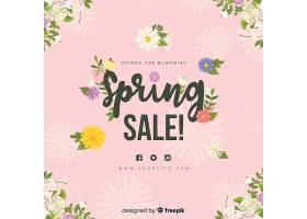 平淡的春季促销背景_40227460101