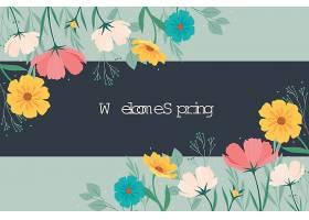 平面细节五彩缤纷的春色背景_122398690101