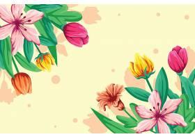 平面细节五彩缤纷的春色背景_125582120101