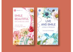 Instagram模板以鲜花花束设计为世界微笑日_102199030101
