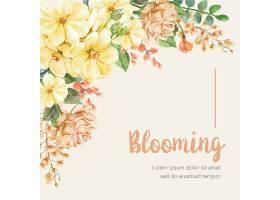 带边框的花卉背景_50180380101
