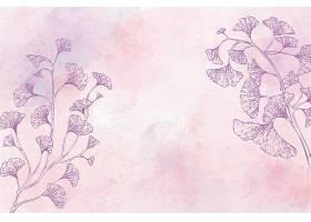单色水彩花卉背景_120635900101