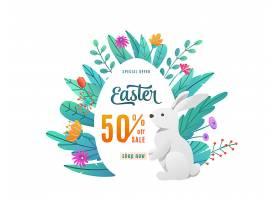 带打折优惠的复活节促销活动在孤立的鸡蛋中_108172730101