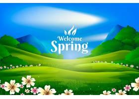 春光明媚的山水風光_124273410101