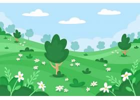 春光明媚的山水風光_124988960101
