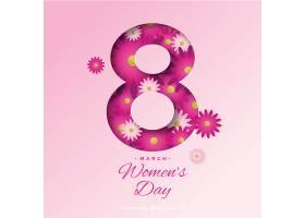 纸上的妇女节背景_16704590102
