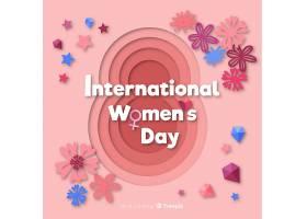 纸质的妇女节背景_37082730102