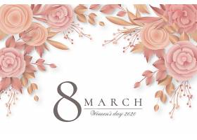 美丽的花卉妇女节背景_70584880101
