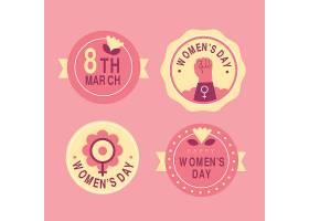 平坦的国际妇女节徽章系列_126880070102