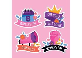 平坦的国际妇女节徽章系列_126880480101