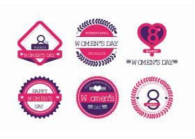 平面设计国际妇女节标签套装_121512870101