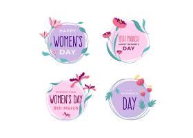 平面设计妇女节徽章系列_66064740101