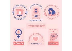 手绘国际妇女节徽章系列_126888710101
