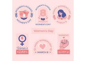 手绘国际妇女节徽章系列_126888710103