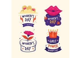 手绘国际妇女节徽章系列_128062100101