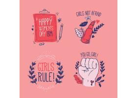 手绘国际妇女节标签系列_121512880101