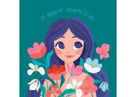 国际妇女节手绘插图_124262100101