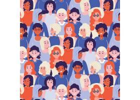 女性脸的妇女节图案_65043230101