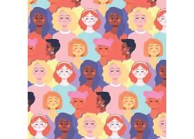 女性脸的妇女节图案_65043380102