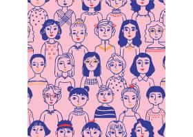 女性脸的妇女节图案_65240710101