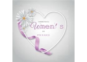 写实的国际妇女节插图用心和鲜花_120621460102