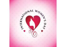 五一妇女节快乐粉色图案背景和字体_18777640101