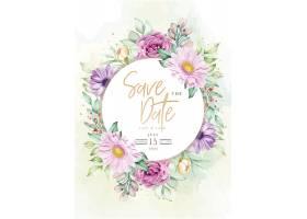 手绘花卉婚礼邀请卡_118510760101