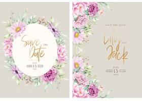 手绘花卉婚礼邀请卡套装_118510800101