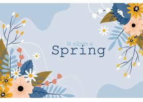 手绘迎春花卉背景_120675460101